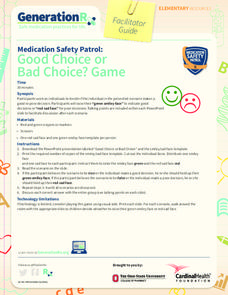 Medication Safety Patrol: Good Choice or Bad Choice? Game Learning Game