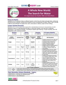 A Whole New World: The Search for Water Lesson Plan