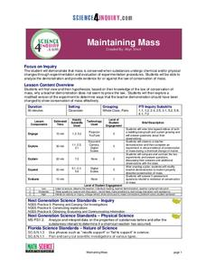 Maintaining Mass Lesson Plan