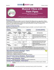 Musical Vibes with Palm Pipes Lesson Plan