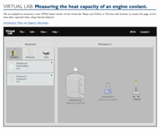 Virtual Lab: Measuring the Heat Capacity of an Engine Coolant Interactive