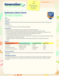 Medication Safety Patrol: Trivia Game Learning Game