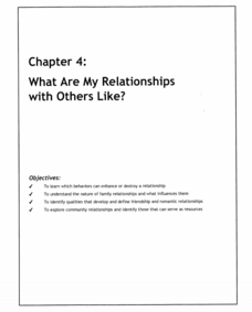 What Are My Relationships with Others Like? Lesson Plan