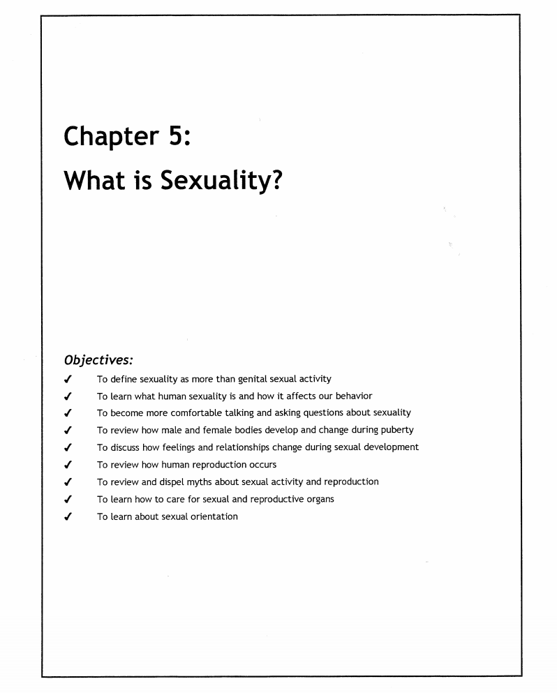 What is Sexuality? Lesson Plan
