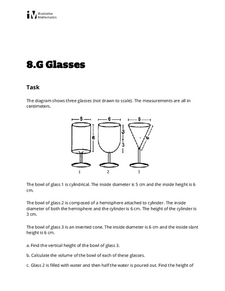 Glasses Activities & Project