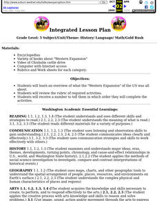 Integrated Lesson Plan Lesson Plan
