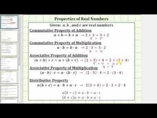 Identify the Commutative, Associative, and Distributive Properties of Real Numbers Video