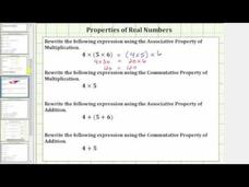 Use the Commutative and Associate Properties of Real Numbers Video