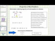 Properties of Real Numbers: Mixed Review Video