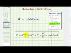 A Discussion: Zero to the Power of Zero - 0^0 Video