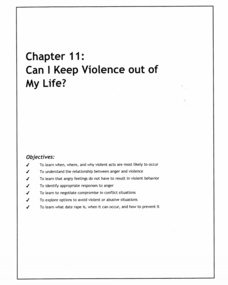Can I Keep Violence out of My Life? Lesson Plan