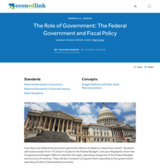 The Role of Government: The Federal Government and Fiscal Policy Lesson Plan
