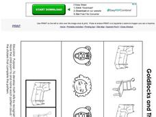 Goldilocks and The Three Bears Pattern Activity Worksheet