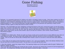Gone Fishing Lesson Plan