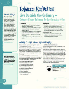Live Outside the Ordinary—Extraordinary Tobacco Reduction Activities Lesson Plan