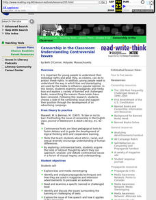 Censorship in the Classroom: Understanding Controversial Issues Lesson Plan