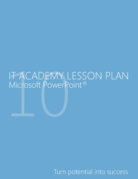 IT Academy Lesson Plan Unit