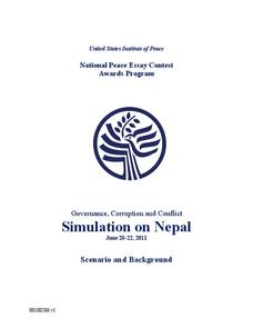 Governance, Corruption and Conflict Simulation on Nepal Activities & Project