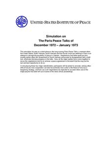 Simulation on The Paris Peace Talks of December 1972 – January 1973 Activities & Project