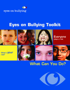 Eyes on Bullying Toolkit Unit
