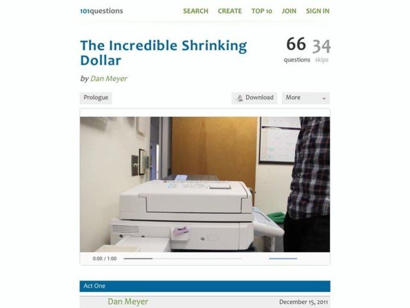 The Incredible Shrinking Dollar Activities & Project