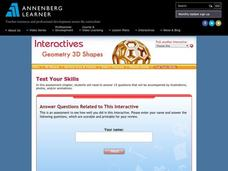 Geometry 3D Shapes: Test Your Skills Interactive