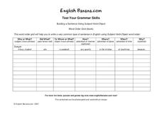 Grammar Skills Worksheet