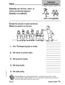 Grammar: Adverbs Worksheet