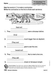 Grammar: Contractions Worksheet