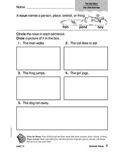Grammar: Nouns Worksheet