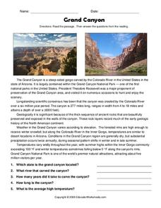 Worksheet Grand Canyon Worksheets grand canyon 4th 8th grade worksheet lesson planet worksheet