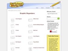 Graphic Organizers Worksheet