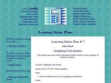 Graphing Calculators Lesson Plan