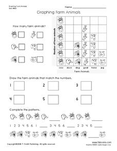 Graphing Farm Animals Worksheet