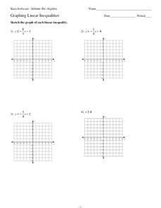 Graphing Linear Inequalities Lesson Plans & Worksheets