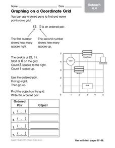 Graphing on a Coordinate Grid Worksheet