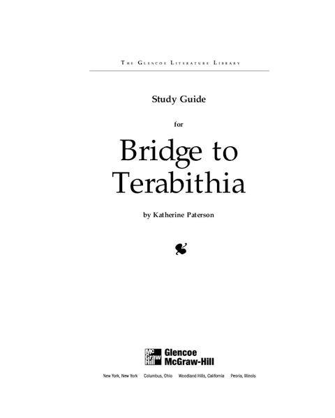 Study Guide for Bridge to Terabithia Study Guide