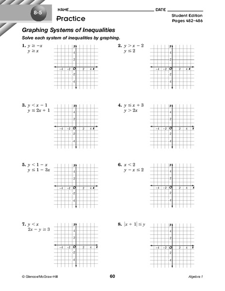 Graphing Systems of Inequalities Worksheet for 9th - 11th ...