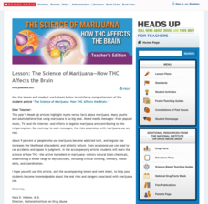 The Science of Marijuana—How THC Affects the Brain Lesson Plan