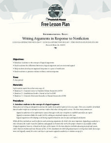 Writing Arguments in Response to Nonfiction Lesson Plan