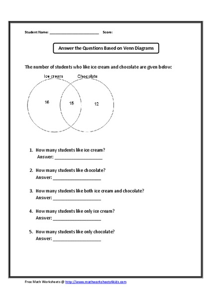 Answer The Questions Based On The Venn Diagram  Deductive