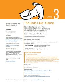 """Sounds Like"" Game Lesson Plan"