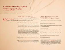 A Silent National Crisis: Violence Against Teachers Professional Document