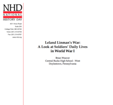 Leland Linman's War: A Look at Soldiers' Daily Lives in World War I Lesson Plan