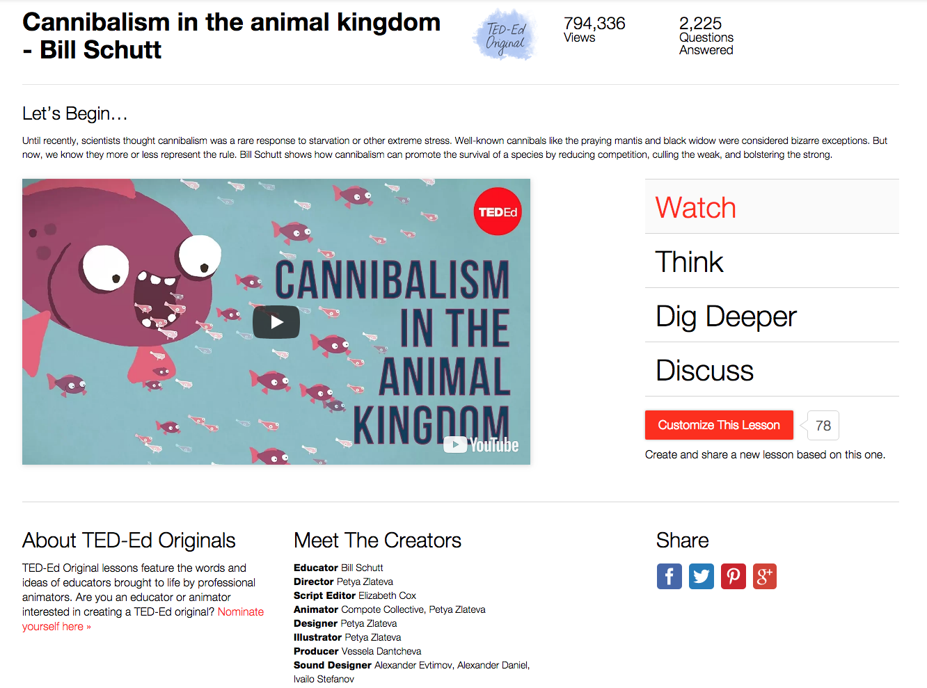 Cannibalism in the Animal Kingdom Video