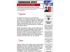 Greenhouse Effect Lesson Plan