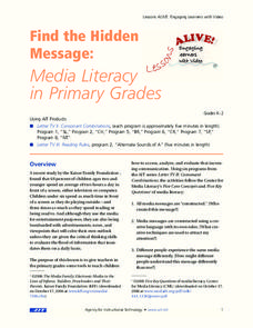 Find The Hidden Message: Media Literacy in Primary Grades Lesson Plan