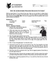 How Do Astronomers Measure Distances to Stars? Worksheet