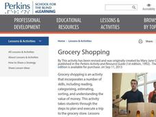 Grocery Shopping Lesson Plan