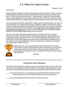 School Speech Contest Lesson Plan